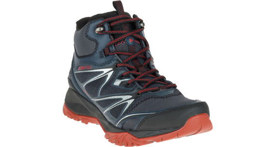 Merrell Capra Bolt Mid Gore-Tex Shoes Men Black/Navy